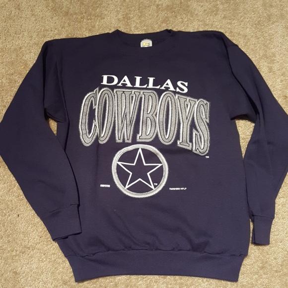 low priced c0a18 ddfab Vtg Dallas Cowboy sweatshirt sz L
